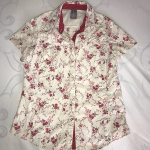 REI floral hiking shirt Medium